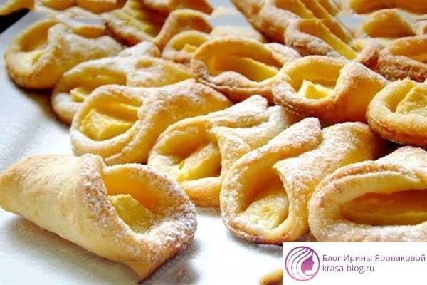 печенье творожное – рецепт, вкусные поцелуйчики, с фото пошаговый