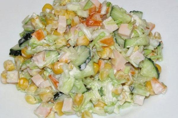 салат с копченой курицей фасолью огурцом ними будете выглядеть