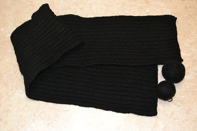 связать шарф спицами быстро и просто