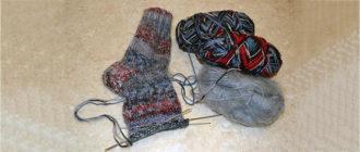 Как связать носки на 4 спицах